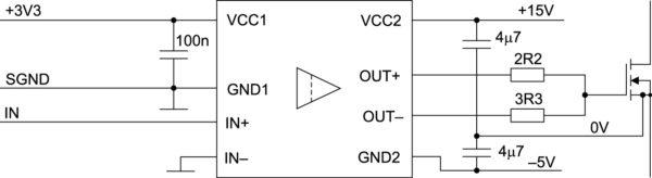 Типовая схема включения микросхем семейства 1EDIхх