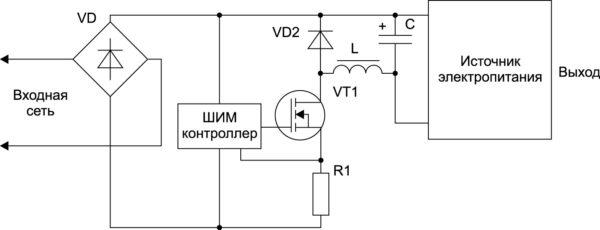 Ограничение пускового тока ШИМ-регулированием ключа со стабилизацией тока заряда