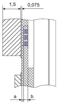 LTCC-корпус КТ43 с изолированной металлизированной керамической МП(ссылки размеров «а», «б» в таблицах 2–7)