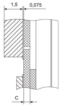 Типовая конструкция корпуса КТ43 с высокотеплопроводящей изолирующей пластиной намонтажной площадке(МП)