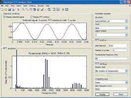 Окно спектрального анализа длятока нагрузки конвертера DC/AC наоснове полного моста