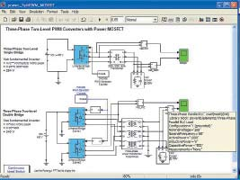 Две диаграммы моделей преобразователя напряжения постоянного тока втрехфазное напряжение переменного тока содним мостом