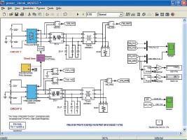 Диаграмма модели преобразователя с нейтральной точкой и мертвым временем