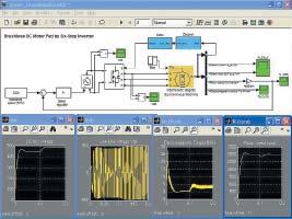 Диаграмма модели синхронного двигателя с постоянным магнитом