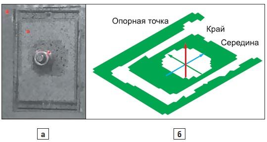 Модуль, смонтированный в климатической камере; б) вид снизу