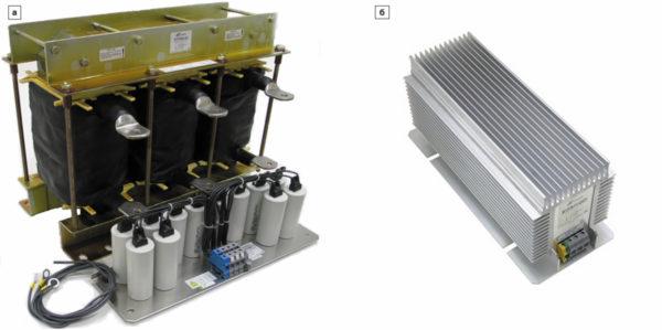 Внешний вид синусного фильтра SKY3FSM  без радиатора и с радиатором охлаждения