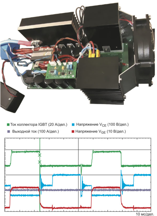 Демонстрационный прототип полумостового сварочного аппарата мощностью 4,5 кВт