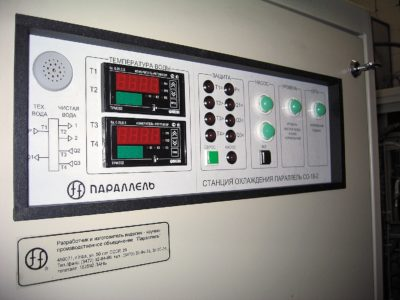 Панель управления двухконтурной станции охлаждения с контроллером