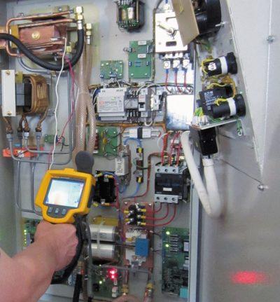 Измерение температуры нагрева компонентов ППЧ