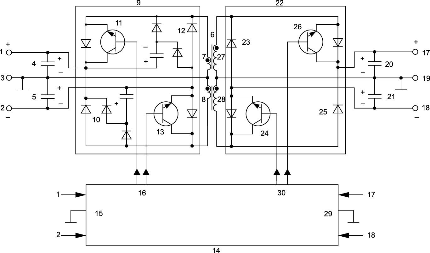 Силовая схема обратимого импульсного модулятора