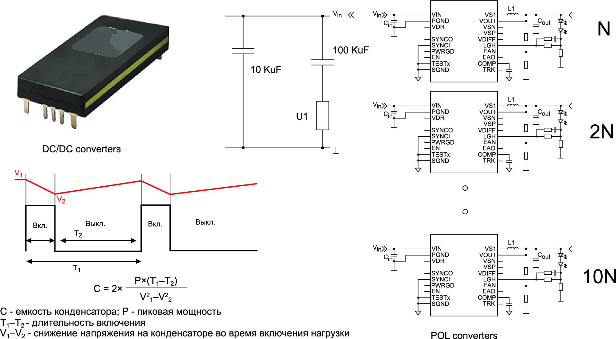 Пример конфигурации с усреднением мощности нагрузки