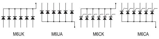 Схемные топологии полупроводниковых сборок серии М6