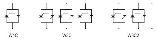 Схемные топологии переключателей серии W