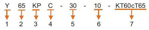 Пример присвоения обозначения приборам капсульного типа