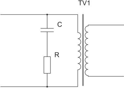 Демпфирующая RC-цепочка (снаббер) в прямоходовом преобразователе