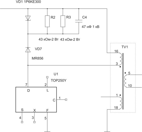 Пример реализации сложной ограничивающей цепи с демпфированием (из проекта автора статьи)