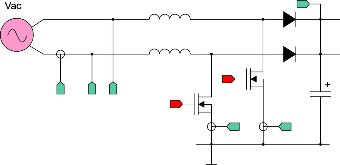 Упрощенная структурная схема однофазного AC/DC-конвертера