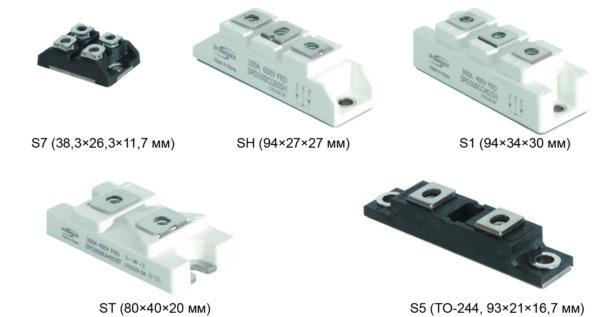 Корпусные исполнения силовых диодных модулей от SemiPowerex
