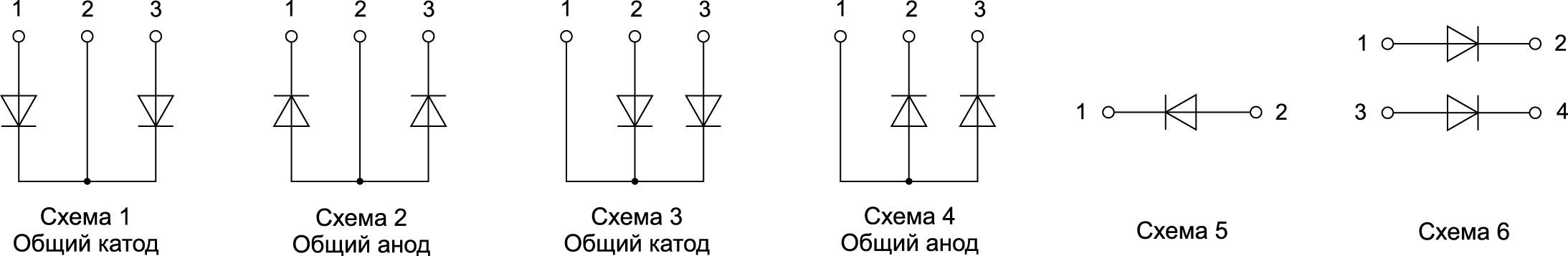 Конфигурация силовых диодных модулей от SemiPowerex
