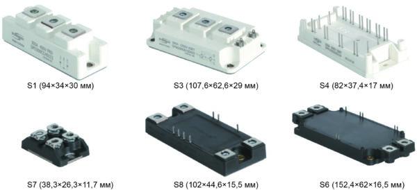 Корпусные исполнения IGBT-модулей от SemiPowerex