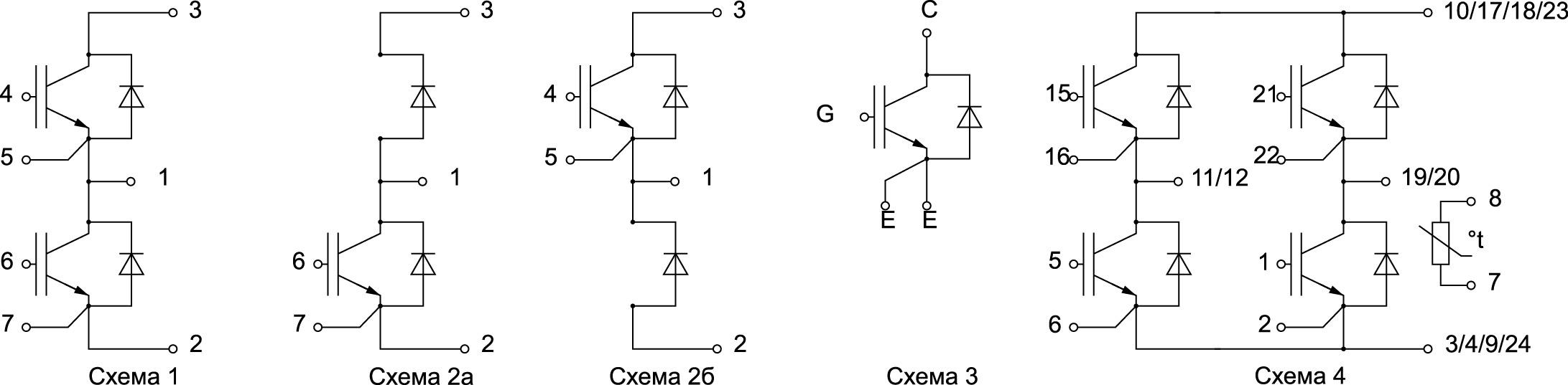 Конфигурация силовых IGBT-модулей от SemiPowerex