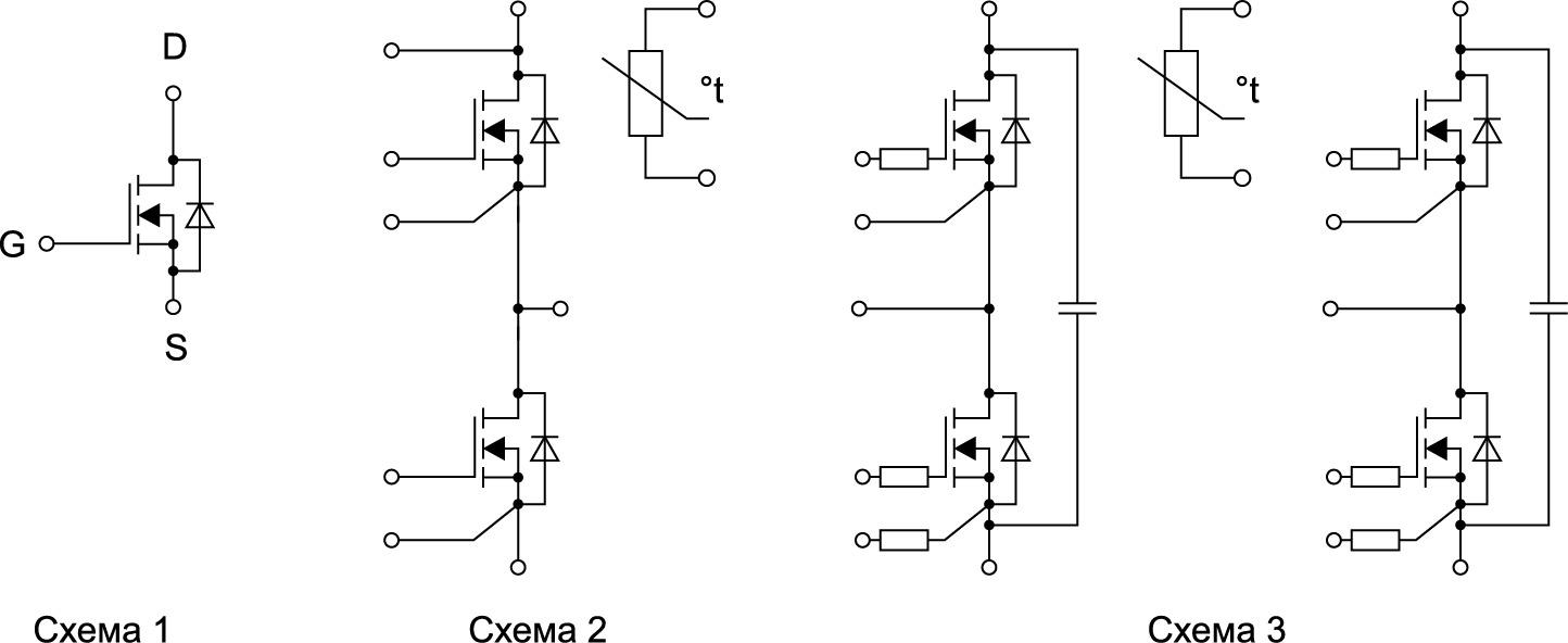 Конфигурация силовых MOSFET-модулей от SemiPowerex