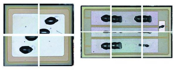 Визуальный контроль вскрытых модулей после 500 и 1000 ч показывает, что состояние поверхности кристаллов не изменилось
