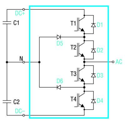 Схема плеча инвертора 3L NPC