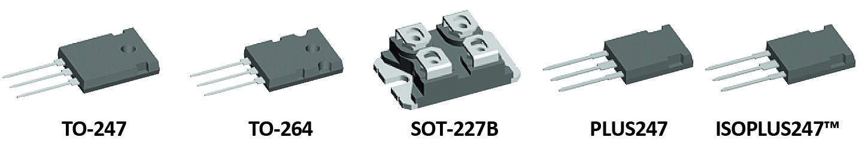 Доступные корпуса транзисторов нового семейства 650-В XPT Trench IGBT