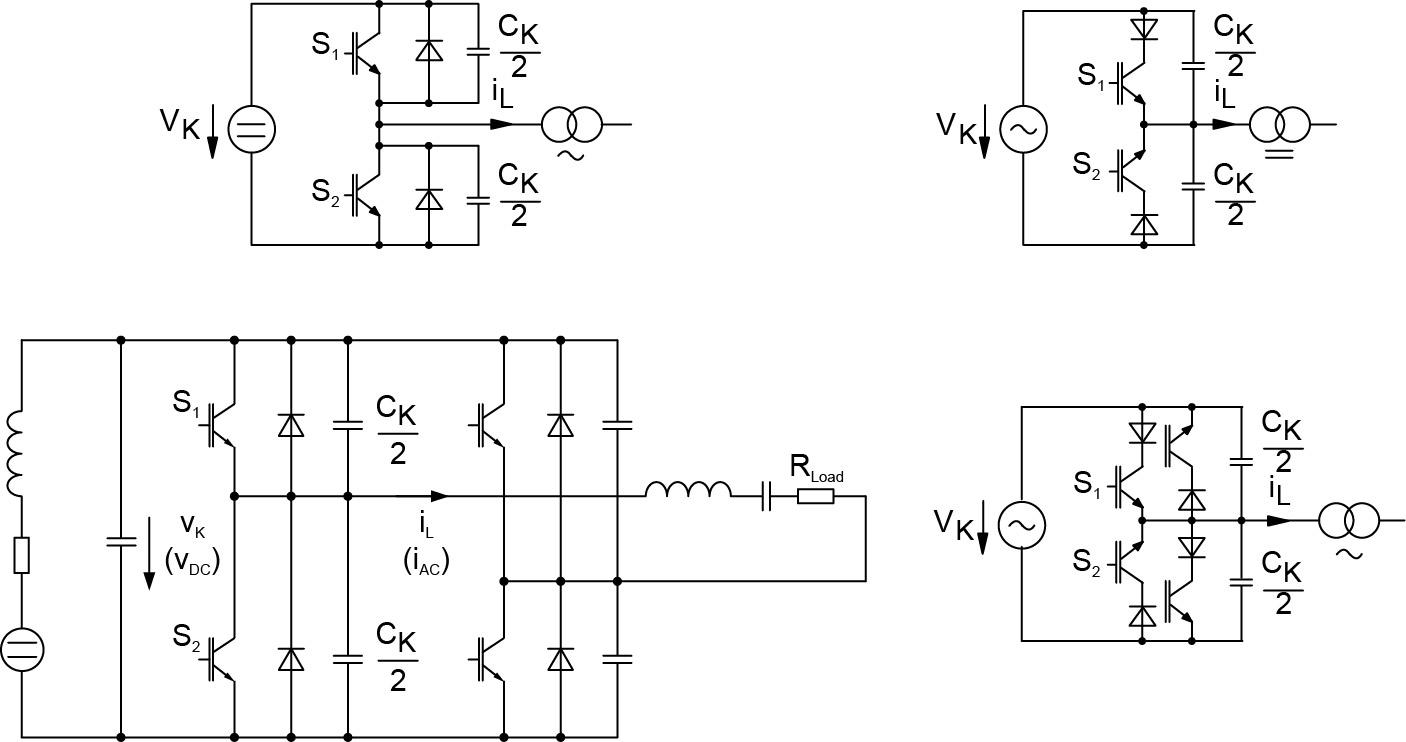 Примеры схем с ZVS-коммутацией, конвертер с параллельным резонансом