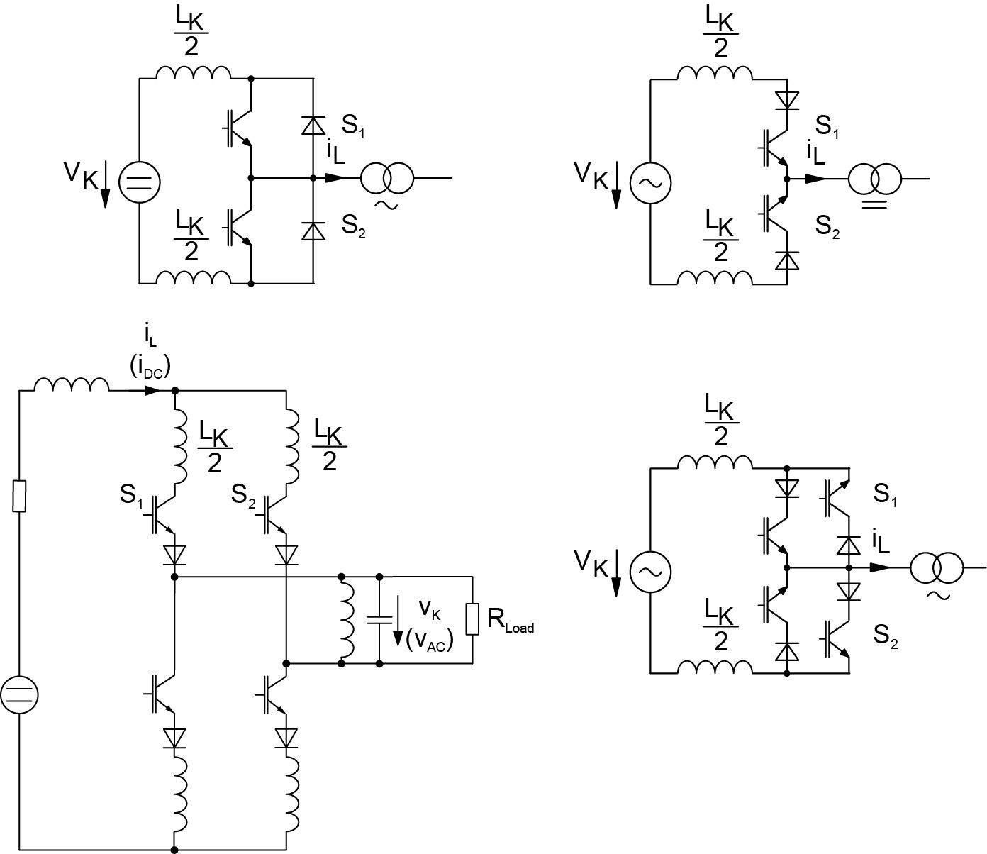 Примеры схем с ZСS-коммутацией, конвертер с последовательным резонансом