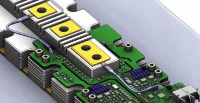 Схема соединения дополнительных контактов затвора и эмиттера IGBT-модуля и драйвера