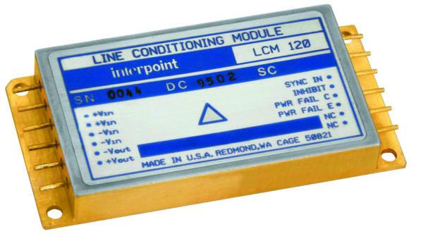 Внешний вид модуля кондиционера шины питания LCM–120 (габаритные размеры 76,33×38,23×10,16 мм, масса 95 г)