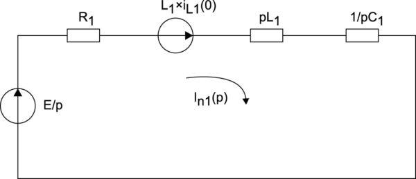 Операторная схема замещения в период второго и последующих замыканий ключа J1