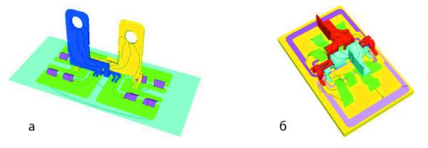 Сравнение структуры основного терминала (моделирование паразитной индуктивности)
