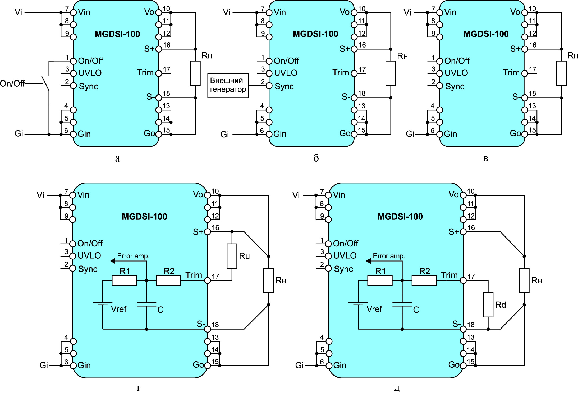 Распространенные сервисные функции DC/DC-преобразователей GAIA Converter