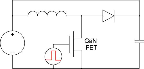 Схема включения для динамических испытаний GaN-транзисторов под индуктивной нагрузкой, предложенная компанией TI