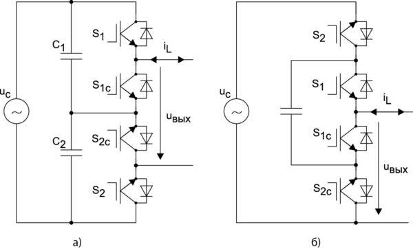 Основные схемы однофазных ШИМ-преобразователей переменного напряжения понижающего типа на IGBT-транзисторах