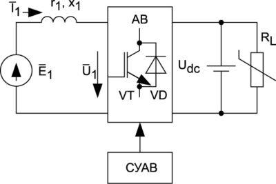 Схема замещения системы СММ-АВ