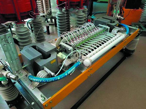 Высоковольтный тиристорный модуль на тиристорах Т283-1600