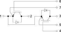 Два ключа с общим эмиттером Common emitter