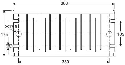 Геометрические размеры ячейки TERA(мм)