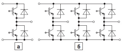 Основные топологии двунаправленных по потоку мощности преобразователей: для DC/DCпреобразователей и для DC/ACпреобразователе
