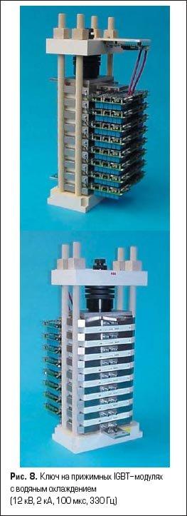 Ключ на прижимных IGBT-модулях с водяным охлаждением