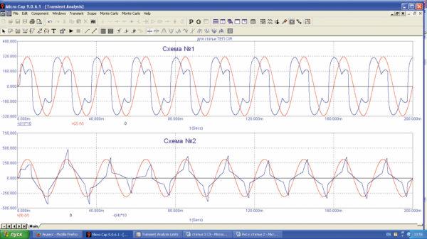 Входные токи и напряжения ТЕП при заряде АКБ