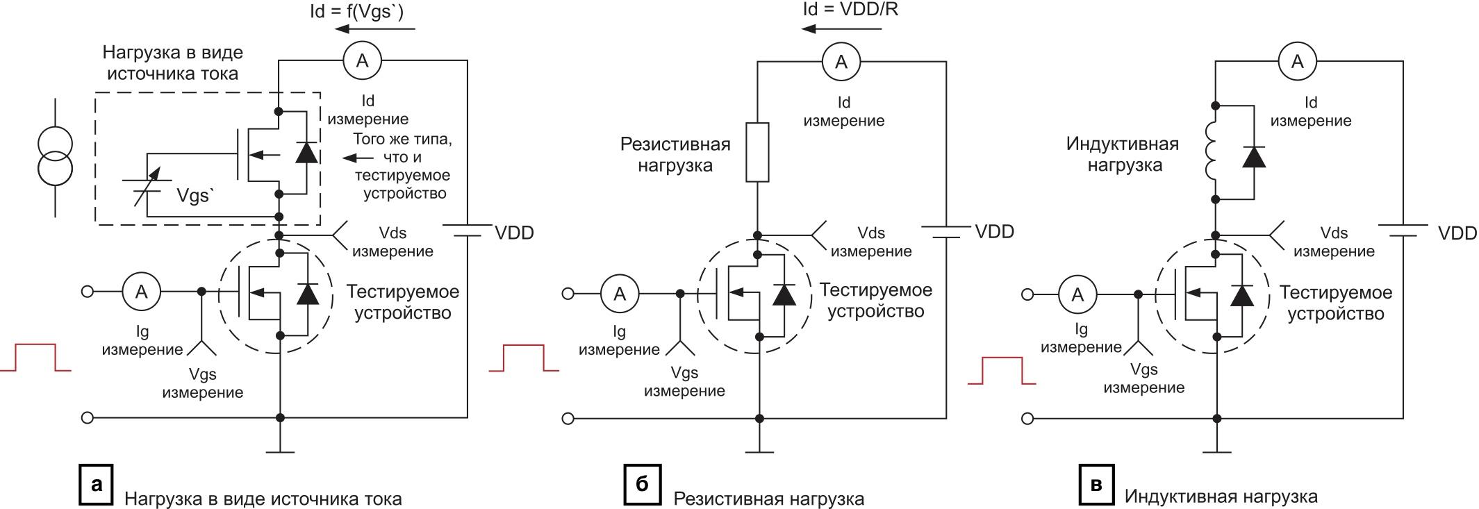 Схема измерения заряда затвора