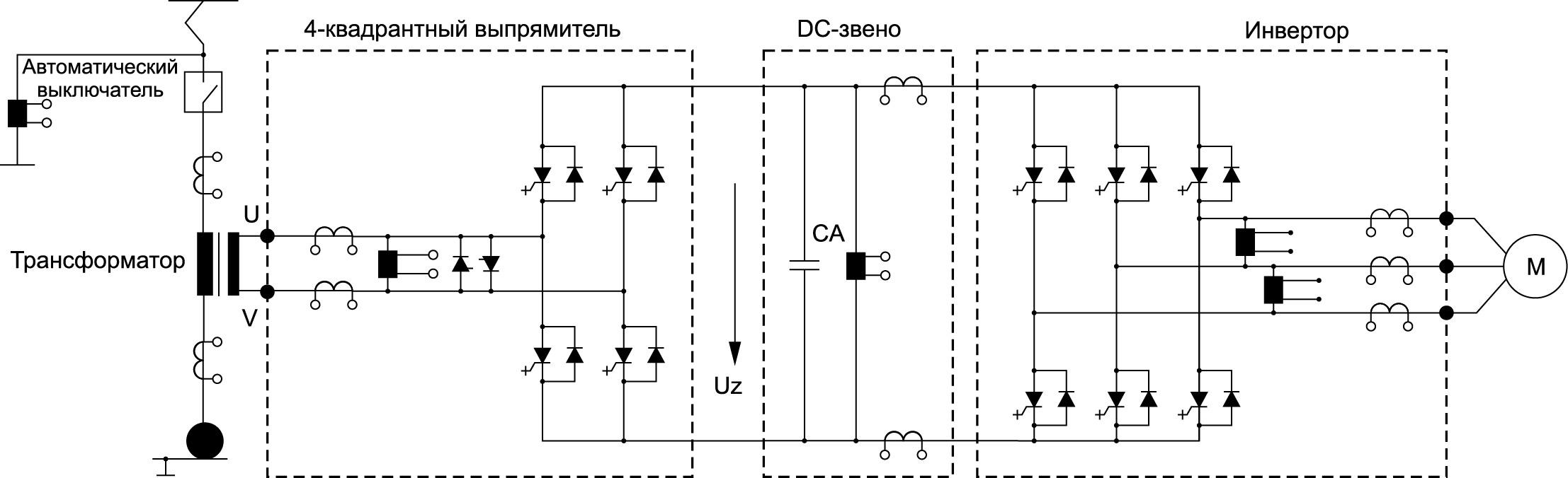 Схема тягового привода