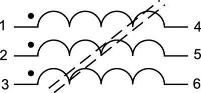 Структура трехфазных дросселей WE-TPB HV [2]