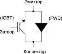 Эквивалентная схема RC-IGBT