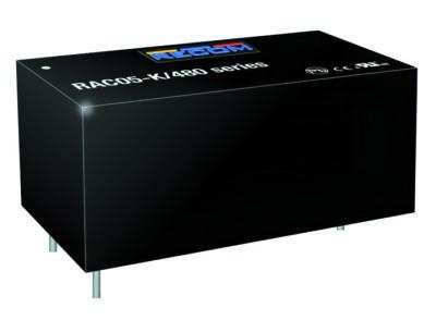 Серия AC/DC-преобразователей RAC05-xxSK/480 компании RECOM преобразует межфазное напряжение трехфазной сети 480 В в напряжение 5 или 12 В постоянного тока. Преобразователь мощностью 5 Вт работает при температуре –40…+80 °C